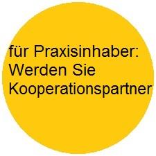 Button für Praxisinhaber - Werden Sie Kooperationspartner